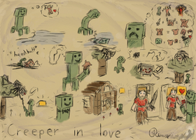 Creeper in Love by Rimarii