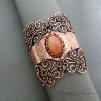 bracelet with carnelian by nastya-iv83