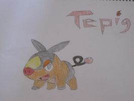 Tepig - Pokemon by Wilfre-colour