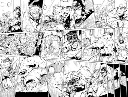 Scorn 2...Double Page spread. by NickSchley