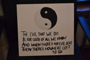 Yin and Yang painting :) by HeartANGELfied