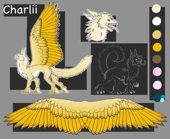Charlii Reference sheet by OokamiMonster