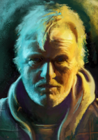 Hobo With A Shotgun portrait by mykie-t