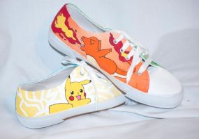 Pokemon Tie Up Sneakers by HungryxHungryxHippos