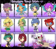 PokeGijinka Adopts-Poison Batch (CLOSED) by Desiree-U