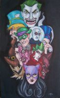 Gotham Villains by tedkordlives