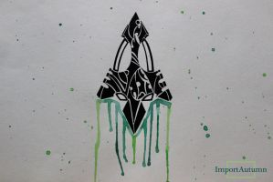 Drawing CW's 'The Arrow' symbol - Youtube Video! by ImportAutumn
