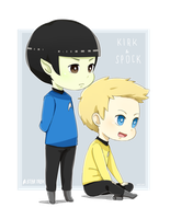 Jim Kirk and Spock by Sellleh