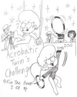 Hudsons and Watsons : Acrobatic Twins! by komi114