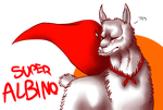 SUPER ALBINO LLAMA BADGE by CrashSpyro98