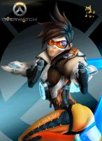 Tracer - CHEERS, LOVE! THE CAVALRYS HERE by HuskyIllustrations