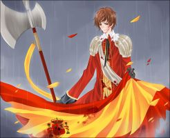 APH:Blood And Gold,In The Rain by kindaseiha