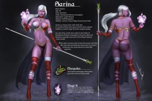 Remake: Sorceress Sarina by iurypadilha