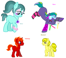 Themed Adoptables 69-72 (CLOSED) by BronyBase