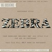 PS Style: ZEBRA by HGGraphicDesigns