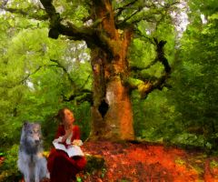 Ren and The Old Tree Spirit by Pendragon1951