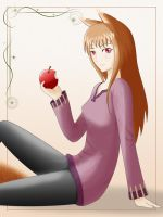 Holo - Wolf and a Sweet Apple by solemnius