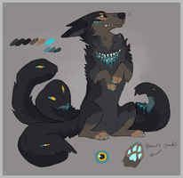 Dog/Snake Tail Creature Sold by fringedfox