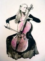 cellist by thecatspaw