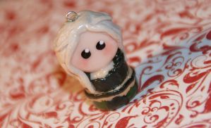 Daenerys Targaryen ,Game of Thrones, chibi charm by polgabice