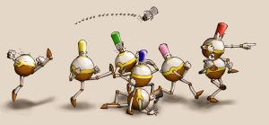 The Fearsome Bottle Army by Manganiac