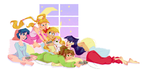 Slumber Senshis by freak-cereals
