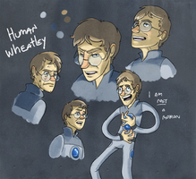 Human Wheatley Sketches by incongruousinquiry
