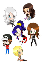 Chibis Practice XD by FlorDeCristal