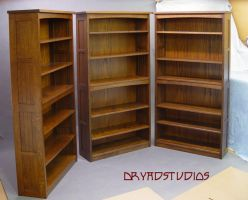 Oak bookcases by DryadStudios