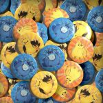 Bird trio buttons by Skoryx