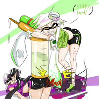 Squid Sisters by ZeroMomentai