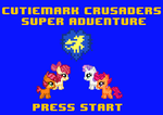 Cutiemark Crusaders Super Adventure Start Screen by ladypixelheart