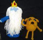 Ice King and Jake the Dog by KnotInTheCoffin