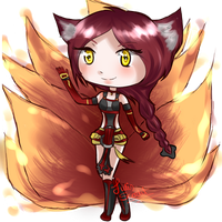 Ahri by JulisScarlet