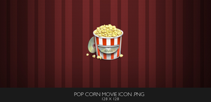 Popcorn DVD Movie Icon by TheWonderlands