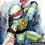 Raphael and some gore by CatByrne