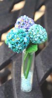 Miniature Hydrangea Arrangement by Bon-AppetEats