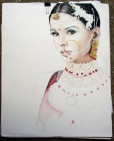 Indian Woman - WIP 2 by creativdj