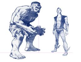 Hulk and Namor Model Sheet by DanielHeard