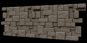 Interlocking Rock Wall by artislight