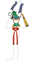 Standing Osiris Color by Writer-Colorer
