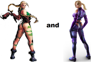 Cammy White and Nina Williams by xXTrettaXx