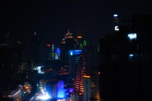 BKK rainbow night lights by MaithaNeyadi