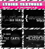Lyrics Textures Set by vanityandwax