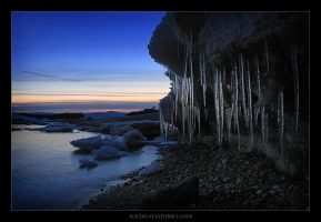 Icicles at Cottrell Cove by tfavretto
