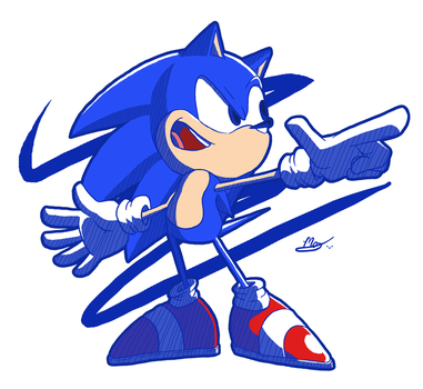 SONIC THE HEDGEHOG! by MohamedOrekan