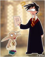 Dobby's drawing for Harry by Harry-Potter-Spain
