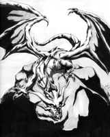 Final Fantasy I Bahamut by GunMetalX-21