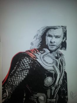 Thor by Emmris-Dessin