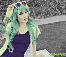 Green Hair by OMyGodZombies